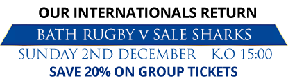 BATH RUGBY v SALE SHARKS
