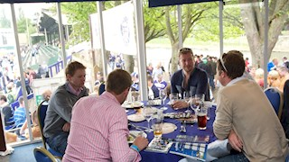 Sit back as you enjoy a meal overlooking the River Avon, before heading to your seats to watch the action unfold.
