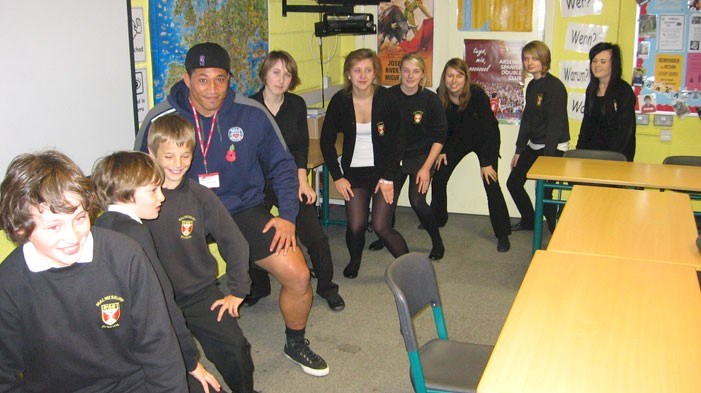 Bath Rugby players teach Afrikaans at Malmesbury School