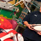 Bath Rugby Players Visit Frenchay Hospital