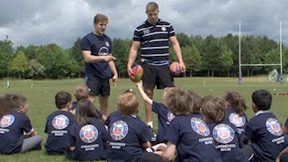 Swindon youngsters get top rugby tips thanks to MAN Truck & Bus UK and Bath Rugby