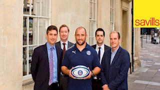 Savills goes up and under to sponsor Bath Rugby
