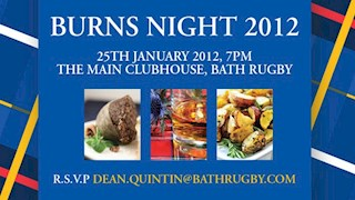 Join Bath Rugby for Burns Night
