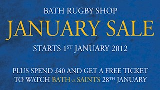 January sale now on in the Bath Rugby Shop