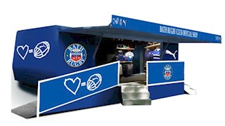 New Bath Rugby Club mobile shop at the Rec