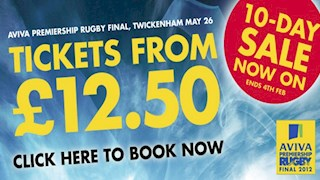 Aviva Premiership Rugby Final 10-Day Sale
