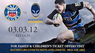 Tickets still available for the Worcester Warriors game