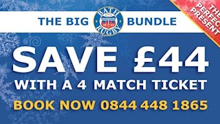 Save up to £44 on Bath Rugby's Ultimate Christmas Gift