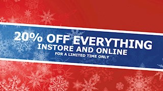 20% off everything - limited time only!