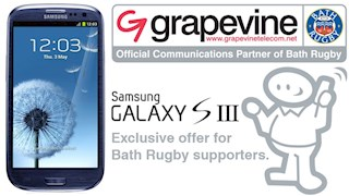 Exclusive mobile phone offer for Bath Rugby Supporters