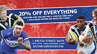 Late Night Shopping Extravaganza with Bath Rugby tonight
