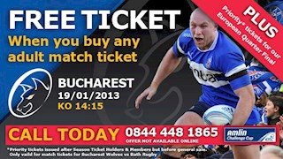 Buy One Get One Free Tickets for Bucharest