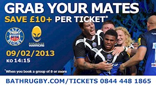 Tickets still available - Grab your mates and save with group bookings this February