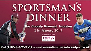 Bath Rugby and Somerset County Cricket team up for Sportsmans' Dinner
