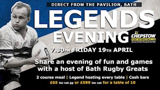 Last chance to join us at the Legends Evening