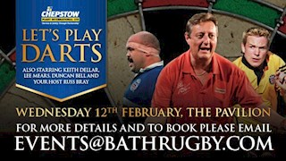 Still time to join Bath Rugby Legends on the Oche!