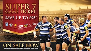 The Bath Rugby Super 7 game ticket