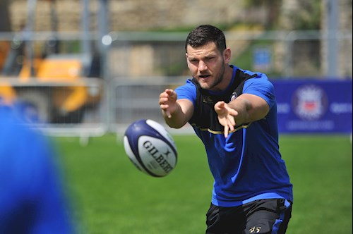 Williams coaches youngsters at Bath's Family Festival of Rugby