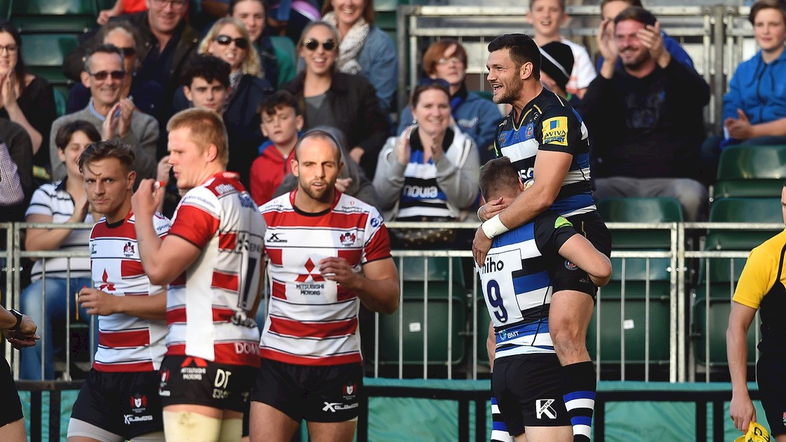 Williams at the double for Bath Rugby