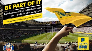 Exclusive Season Ticket Holder ballot now open for Aviva Premiership Final