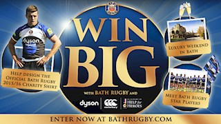 Inspire Bath Rugby's 2015/16 Charity Shirt and win big!