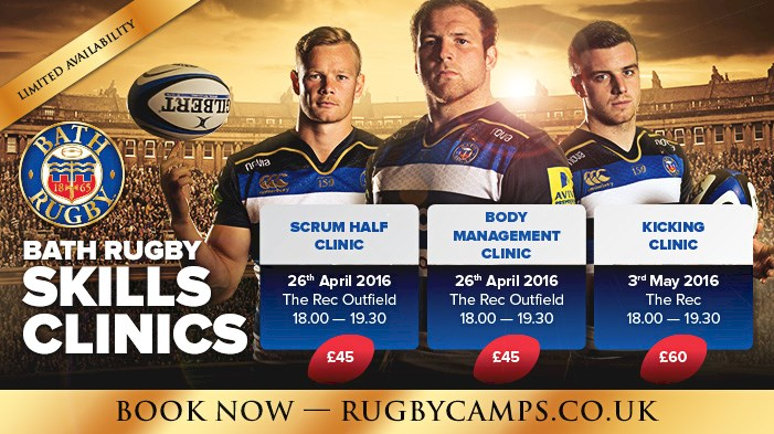 Players confirmed for Bath Rugby's Skills Clinics!