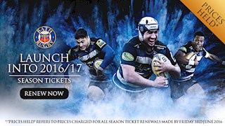 Renewals open for Bath Rugby 2016/17 Season Tickets