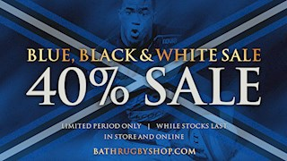 End of Season Sale - 40% off at the Bath Rugby Shop!