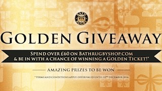 Don't miss out on Bath Rugby's Golden Giveaway!
