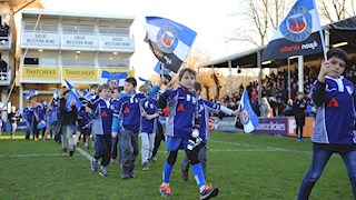 Take part in the half-time pitch parade next Saturday!