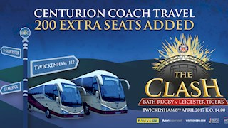 Additional coaches now added for The Clash – book your seat today!