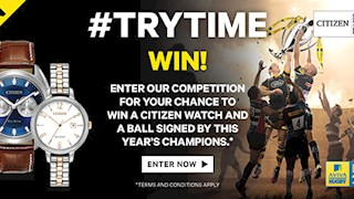 Win a Citizen watch and a ball signed by this year's Aviva Premiership rugby champions