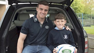 George Ford hands World Cup mascot duty to local boy
