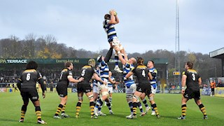 Bath Rugby forwards dominate to defeat Wasps