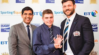 Bath Rugby Foundation student wins national prize at Premiership Rugby Awards in London.
