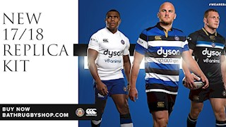 New replica kits unveiled by Bath Rugby for 2017/18 season