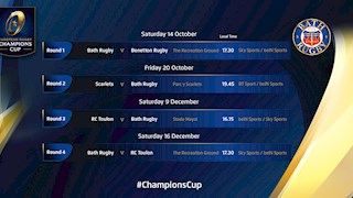 Bath Rugby kick-off Champions Cup campaign against Benetton Treviso
