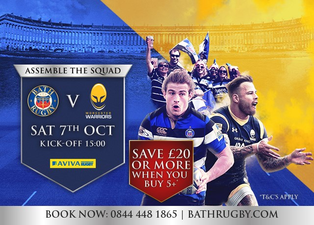Bath Rugby v Worcester - Saturday 7th October