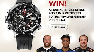 Win a Citizen Watch and tickets to the Aviva Premiership Final