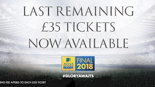 Final £35 tickets now available for the Aviva Premiership Rugby Final