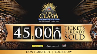 45,000 ticket mark surpassed for The Clash