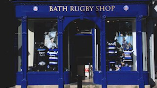 Meet some of the players at the Bath Rugby Club Shop today