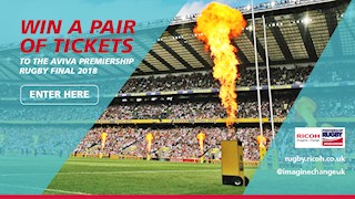 Win two tickets to the Aviva Rugby Premiership Rugby Final