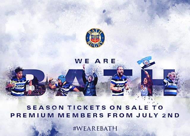 Season Tickets on sale to Premium Members from 2nd July