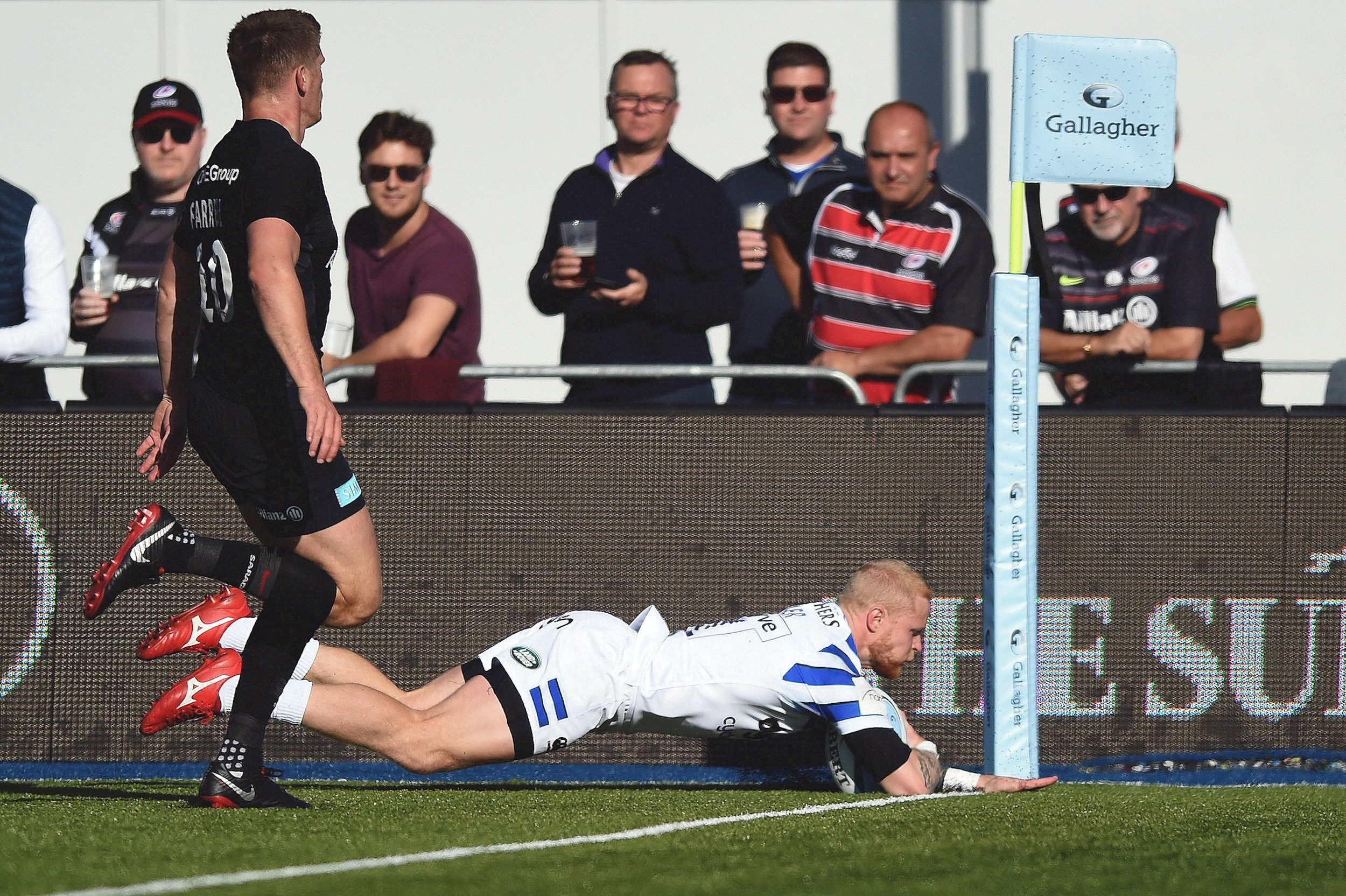 Saracens victorious over Bath Rugby