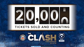 Tickets eclipse the 20,000 mark for The Clash