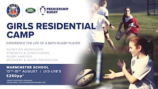 Bath Rugby launch Girls Residential Camps