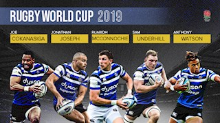 Five Bath Rugby players selected in England's Rugby World Cup squad