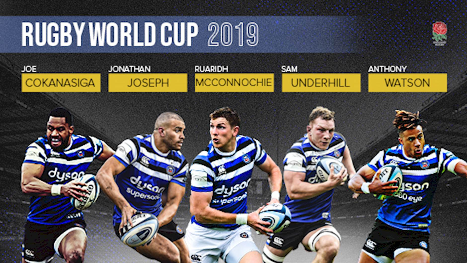 Five Bath Rugby Players Selected In