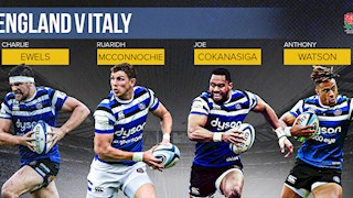 Bath Rugby quartet to face Italy in Newcastle